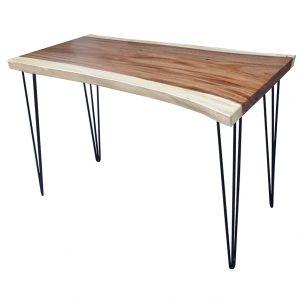 Bàn gỗ me tây dày 5cm chân Hairpin ( 60x120x75cm)