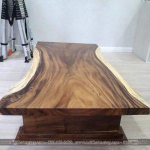 Bàn trà sofa gỗ me tây nguyên tấm 1m6 x 80cm