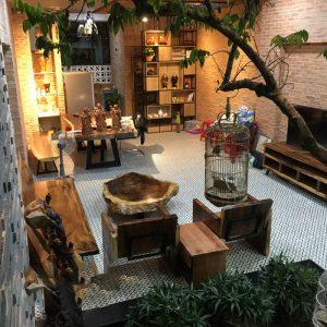 Bộ bàn ghế sofa nguyên tấm gỗ me tây