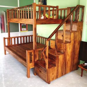 Giường gỗ me tây